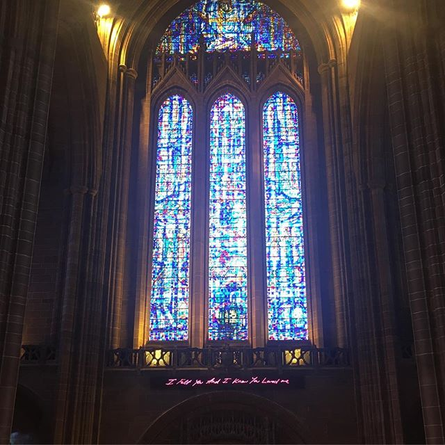 """I Felt You And I Know You Love Me"" #liverpoolcathedral #travellingactress #aidavita #aidavitamomente #aidaselection"